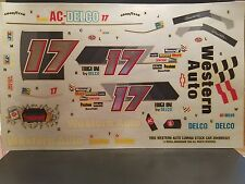 Darrell Waltrip Western Auto Chevrolet Lumina Decals 1/24 Scale 1993 Monogram