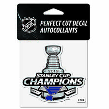 "St. Louis Blues 2019 Stanley Cup Champions WinCraft Perfect Cut Decal (4""x4"")"