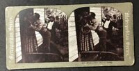 Vintage Stereo-View Stereoscopic Photo: #A107: Even A Kiss has It's Sting