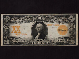 USA:FR-1186,20$ Gold Certificate 1906 * Washington * VF *