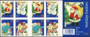 Holiday Cookies Booklet Pane of Twenty 37 Cent Postage Stamps Scott 3956b