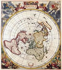 POSTER -- Vintage Stile Antico Mappa del mondo / GLOBE (foto stampa art ATLAS)