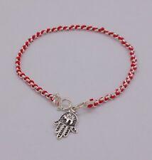 Lot 10 Sterling Silver Bracelet kabbalah Hamsa Hand Charm Pray Judaica  New