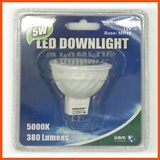 6 x 5W LED DOWNLIGHT BULB 12v MR16 380lm Daylight   Lighting Recessed Low Energy