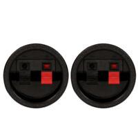 2 Goldwood Sound SCT-900R Round Power Terminal Plates Speaker Terminals