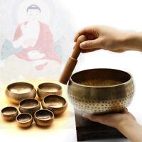 Buddhism Tibetan Meditation Singing Bowl Hammered Yoga Copper Chakra Hammered