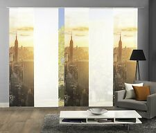 Schiebegardinen 5er Set, Digitaldruck Skyline New York