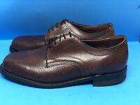 Knapp Men's Brown Pebble Grain Leather Lace-up Oxfords US Size 8 EEE