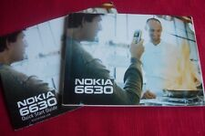 Nokia 6630  Users Guide Instruction Booklet Manual & QUICK START GUIDE
