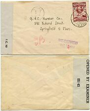 GOLD COAST 1944 CENSORED to USA...ACCRA MACHINE + CDS...1d PRINTED MATTER RATE