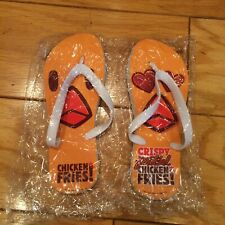 2018 Burger King Crispy Pretzel Chicken Fries Flip Flops Promo Item NEW MEDIUM