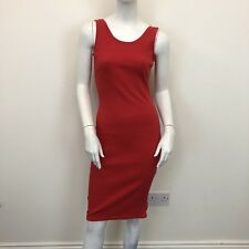 Atmosphere Ladies Red Ribbed Low Back Stretch Sleeveless Midi Dress UK Size 12