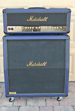 SUPER RARE! 1992 MARSHALL 30th ANNIVERSARY 6100LE BLUE BRASS 100W HD + 4X12 CAB