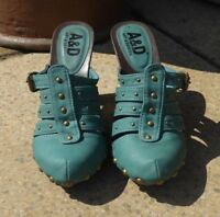 A&D green mules Uk size 4/38