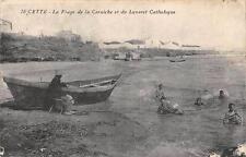 CPA 34 CETTE LA PLAGE DE LA CORNICHE ET DU LAZARET CATHOLIQUE