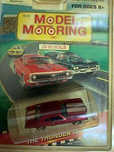 MODEL MOTORING T-JET Chevelle candy red HO slot car blister pk runs on aurora