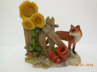 Teviotdale Collectable Figurines~ Fox with Sunflower ~Hand Made Hawick, Scotland