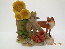 More details for teviotdale collectable figurines~ fox with sunflower ~hand made hawick, scotland