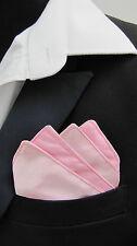 Da Uomo Fazzoletto da taschino rosa/Fazzoletto/fazzoletto in finta seta di raso-Matrimonio-christning