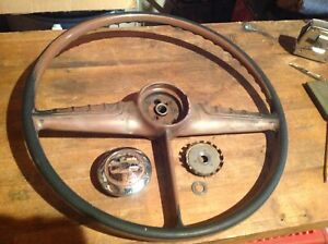 1955 Chevy Pickup Truck Steering Wheel with Horn Button Good Condition
