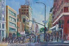 5th & Broadwy Downtown Los Angeles PleinAir Impressionism Cityscape John Kilduff