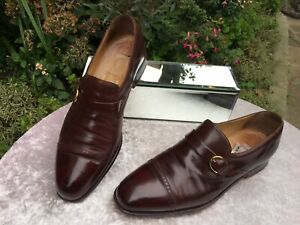 Genuine Russell And Bromley Moreschi Collaboration Brown Leather Shoes UK 8