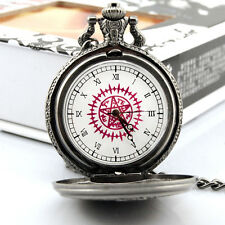 Anime Black Butler Kuroshitsuji Sebastian Ciel Pocket Watch Cosplay+box Red @