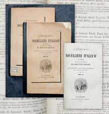 1871 Bibliography novelle italiane Catalogo dei Novellieri Italiani Papanti 2 Bd