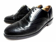 BOSTONIAN IMPRESSION BROGUED WING TIP OXFORDS BLACK LEATHER MENS SHOES 9.5 C