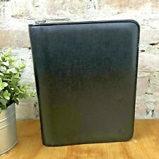 Franklin Covey Black Simulated Leather Planner Zipper 7 Ring Binder 10x8 12215