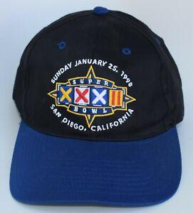 Super Bowl XXXII NFL Baseball Cap Hat Packers vs Broncos 1998 San Diego One Size