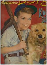1954 American Boy Coloring Book Cover of a Young Baseball Player with Dog