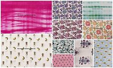 100 Meter Wholesale Lot Hand Block Print Fabric Dabu Gad Floral Printed Fabric