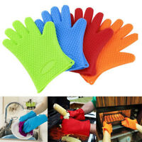 1 PC Kitchen Silicone Heat Resistant Gloves Oven Grill Pot Holder BBQ Cooking