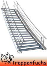 18 Stufen Stahltreppe beidseitigem Geländer Breite 120 cm Geschosshöhe 299-360cm