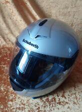 Shubert c3 pro moto casco talla XL 60/61 plata