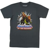 Masters Of The Universe Battle Cat And He-Man Licensed Adult T-Shirt