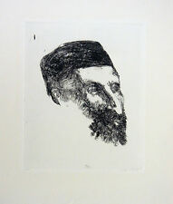 """Portrait"" Original etching, Hand Signed, Limited Edition, by Aubrey Schwartz"