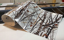 "CAMOUFLAGE VINYL DECAL 48"" x 15"" GLOSS TRUCK CAMO TREE PRINT PICKUP SNOW"
