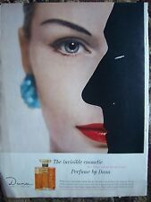 1959 Dana 20 Carats Perfume The Irrestible Cosmetic Color Ad