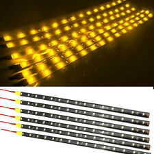 6Pcs Amber 1Ft/15 LED Car Motors Truck Bike Flexible Strip Light Waterproof 12V