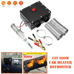 12V Car Underdash Compact Air Heater Heat Speed Switch Defroster Demister 600W