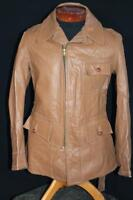 "RARE VINTAGE EARLY 1950'S ""DANA CLARK"" BROWN LEATHER  CALIFORNIAN JACKET  MEDIUM"