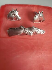 Anson Horse Tie Clip And Cuff Links