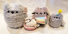 GUND PUSHEEN and STORMY CAT Birthday Cake Party Plush Set *LOT 4* All EUC!