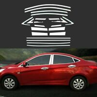 Full Windows Molding Trim Decoration Strips w/ Center Pillar For Hyundai Accent