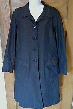 EUC LL L.L. Bean Black Lightweight Raincoat Trench Womens M Medium Free Shipping