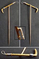 épingle de cravate foulard  en OR massif Cavache de cavalier gold pin 19e siècle