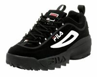 FILA Disruptor II Black, White, Red Mens Sneakers Tennis Shoes FW01653-018