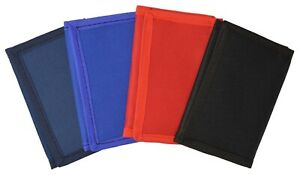 Kids Mens Solid Color Slim Trifold Nylon Children Wallet